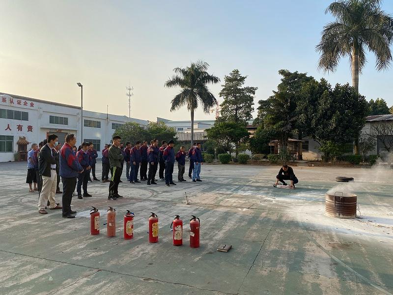 佳盛海绵厂家消防安全培训教育